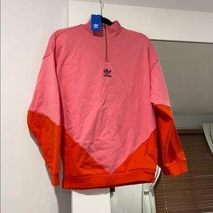 Adidas pink and orange sweatshirt. never worn